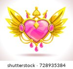 beautiful precious decorative... | Shutterstock .eps vector #728935384