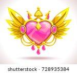 beautiful precious decorative...   Shutterstock .eps vector #728935384
