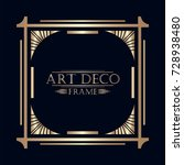 art deco ornamental vintage... | Shutterstock .eps vector #728938480