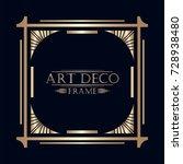 art deco ornamental vintage...   Shutterstock .eps vector #728938480