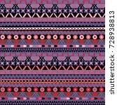 ethnic seamless pattern  raster ... | Shutterstock . vector #728938813