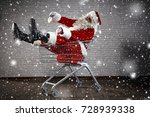 santa claus and shopping time  | Shutterstock . vector #728939338