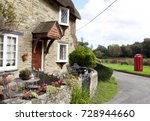 country house next to classic... | Shutterstock . vector #728944660
