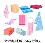 vector illustration of towels...