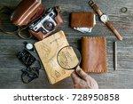 adventure seeker set | Shutterstock . vector #728950858