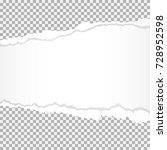 torn paper edges. | Shutterstock .eps vector #728952598
