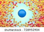 falling on top of the chips ... | Shutterstock . vector #728952904