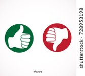 thumbs up thumbs down   stock... | Shutterstock .eps vector #728953198