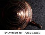 the vintage turkish teapot on... | Shutterstock . vector #728963083