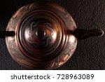 the vintage turkish teapot on... | Shutterstock . vector #728963089