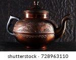 the vintage turkish teapot on... | Shutterstock . vector #728963110