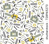 seamless pattern with working... | Shutterstock .eps vector #728965273