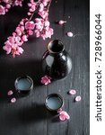 ready to drink sake with...   Shutterstock . vector #728966044