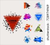 sacred geometry triangle... | Shutterstock .eps vector #728974969