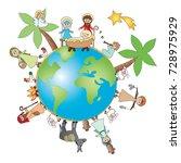 nativity of jesus in the world | Shutterstock . vector #728975929