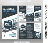 business brochure template in...   Shutterstock .eps vector #728977729