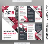 business brochure template in... | Shutterstock .eps vector #728977744
