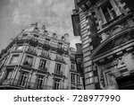 black and white paris | Shutterstock . vector #728977990
