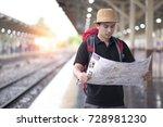 traveler look searching...   Shutterstock . vector #728981230