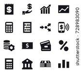 16 vector icon set   receipt ... | Shutterstock .eps vector #728983090