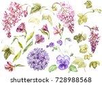 Big Set Watercolor Collection...