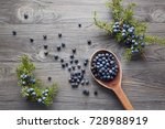 Wooden Spoon With Seeds Of...