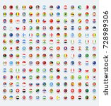 rounded flags button. country... | Shutterstock .eps vector #728989306