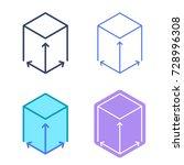 size concept linear symbols.... | Shutterstock .eps vector #728996308