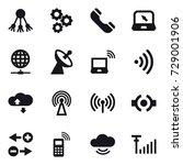 16 vector icon set   share ... | Shutterstock .eps vector #729001906