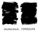 vector grunge banners. grunge... | Shutterstock .eps vector #729002194