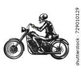 monochrome illustration of the... | Shutterstock .eps vector #729010129