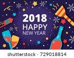the beautiful flat vector...   Shutterstock .eps vector #729018814