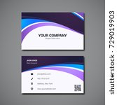 simple business card design... | Shutterstock .eps vector #729019903