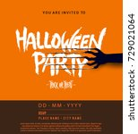 halloween concept with... | Shutterstock .eps vector #729021064