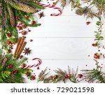 christmas greeting card. text... | Shutterstock . vector #729021598
