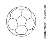 outlined vector football ball.... | Shutterstock .eps vector #729021889