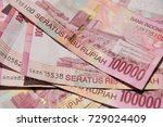 Close Up Of Indonesian Money ...