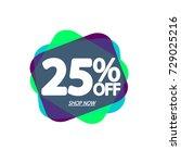 sale banner  speech bubble tag  ... | Shutterstock .eps vector #729025216