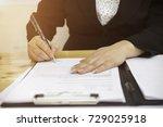 close up business woman... | Shutterstock . vector #729025918