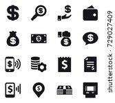 16 vector icon set   dollar ... | Shutterstock .eps vector #729027409
