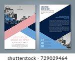 abstract minimal geometric... | Shutterstock .eps vector #729029464