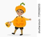 african american boy wearing... | Shutterstock .eps vector #729038353