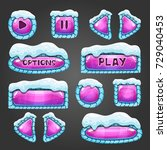 winter cartoon pink buttons...