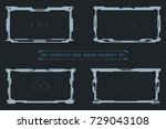 hud futuristic user screen... | Shutterstock .eps vector #729043108
