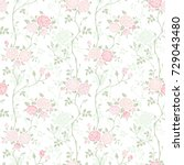 seamless floral background with ... | Shutterstock .eps vector #729043480