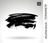 black brush stroke and texture. ... | Shutterstock .eps vector #729049879