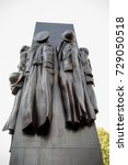 London, 28th September 2017:-The Women of World War 2 Memorial, Whitehall - stock photo