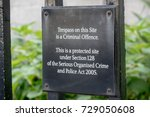 London, 28th September 2017:-Signs on the railings of Portcullis House, part of the Parlimentary Estate - stock photo