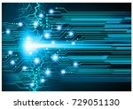 binary circuit board future... | Shutterstock .eps vector #729051130
