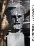 march 2017   mainz  a statue of ... | Shutterstock . vector #729052849